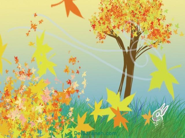 نقاشی پاییز کودکانه (۳۰)