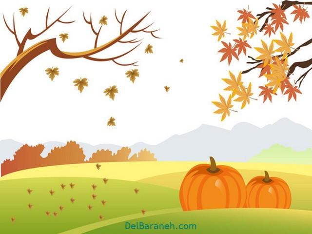 نقاشی پاییز کودکانه (۳۱)