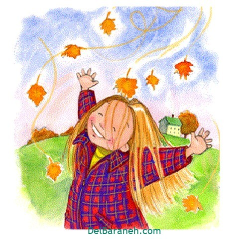 نقاشی پاییز کودکانه (۴)