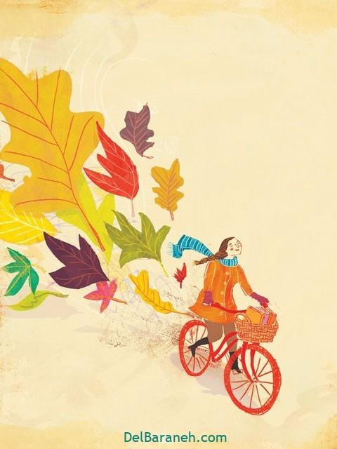 نقاشی پاییز کودکانه (۵)