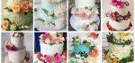 کیک عروسی | ۷۰ مدل کیک عقد و عروسی با تزیین گل طبیعی شیک و رویایی