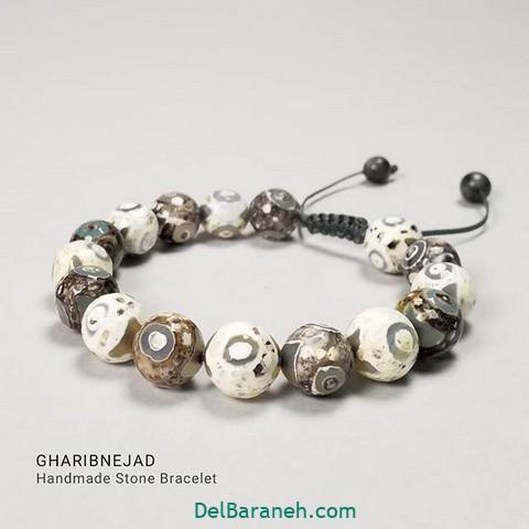مدل دستبند مهره | ۶۰ عکس دستبند مهره سنگی و چوبی دست ساز