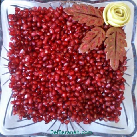 تزیین انار یلدا عروس (۱۲)