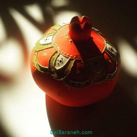 تزیین انار یلدا عروس (۲)