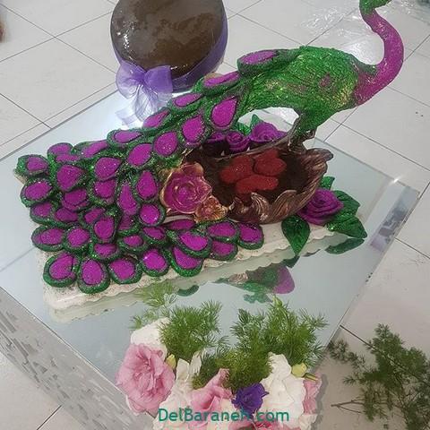 تزیین حنا به شکل طاووس تزیین حنا | ۷۰ مدل تزیین حنا باکلاس به شکل کیک و گل و قلب ...