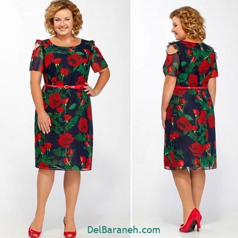 لباس مجلسی سایز بزرگ | ۵۵ مدل لباس سایز بزرگ شیک و جدید - دلبرانه