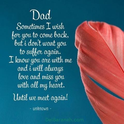 عکس دلتنگی روز پدر (۱)