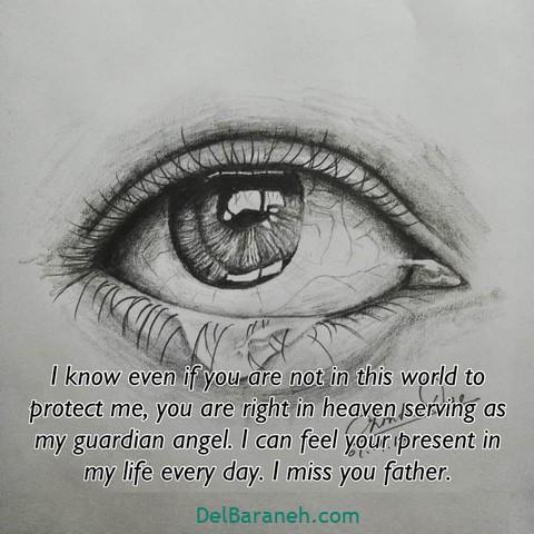 عکس دلتنگی روز پدر (۳)