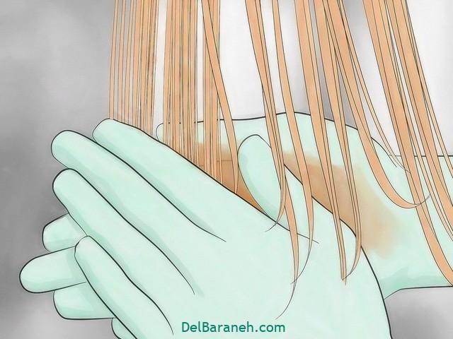 رنگ کردن مو سفید با حنا (۱۳)