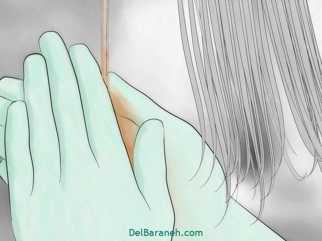 رنگ کردن مو سفید با حنا (۱۵)