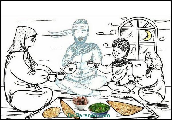 رنگ آمیزی ماه رمضان (۲)
