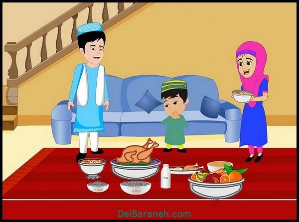 نقاشی سفره افطار (۱۱)
