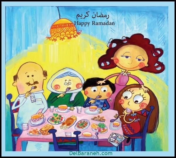 نقاشی سفره افطار (۱۲)