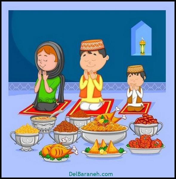 نقاشی سفره افطار (۲)