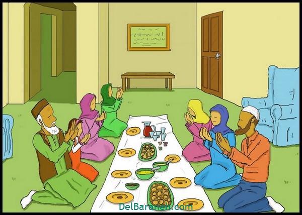 نقاشی سفره افطار (۴)