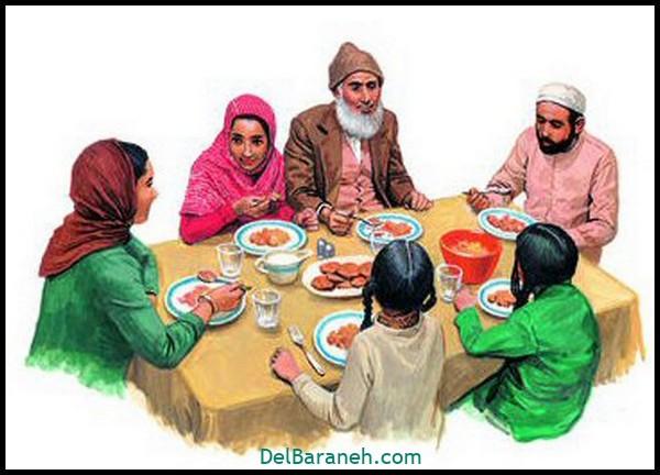 نقاشی سفره افطار (۸)