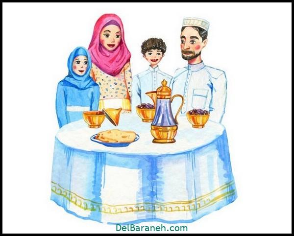 نقاشی سفره افطار (۹)