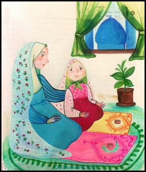 نقاشی ماه رمضان (۱۹)