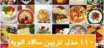 تزیین الویه | ۱۱۰ مدل تزیین سالاد الویه مجلسی برای مهمانی و تولد