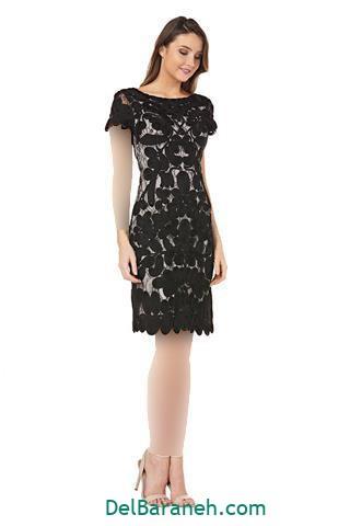 مدل لباس مجلسی ساتن استین بلند