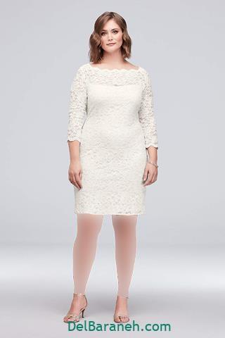 مدل لباس مجلسی آستین دار برای افراد چاق