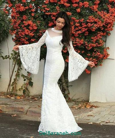 مدل لباس مجلسی آستین دار دخترانه  ۱۲۰ مدل لباس مجلسی آستین دار با طرح های متنوع مخصوص مهمانی