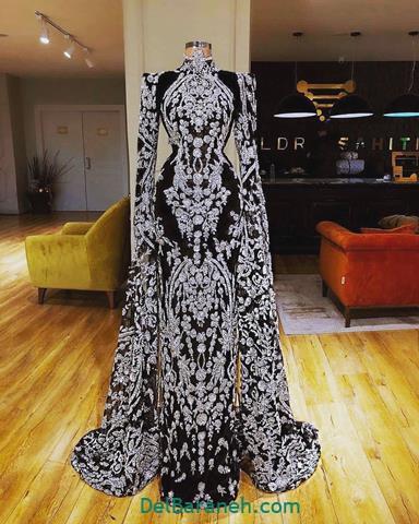 مدل لباس مجلسی آستین دار زنانه