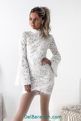 مدل لباس مجلسی آستین دار زیبا