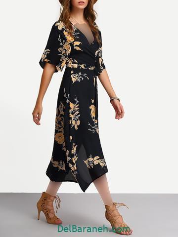 مدل لباس مجلسی ساده و شیک استین دار