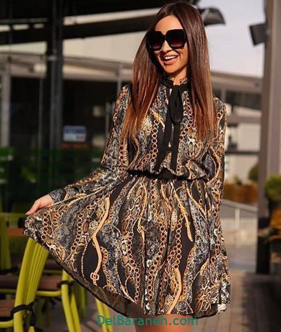 مدل لباس مجلسی آستین دار در اینستاگرام