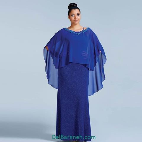 مدل لباس مجلسی آستین دار با طراحی خاص