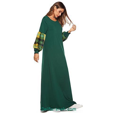 مدل لباس مجلسی استین دار ساده