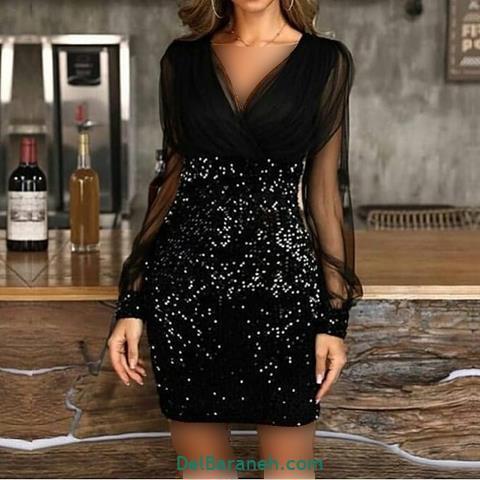 مدل لباس مجلسی آستین دار 2020