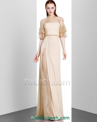 مدل لباس مجلسی استین مدل دار