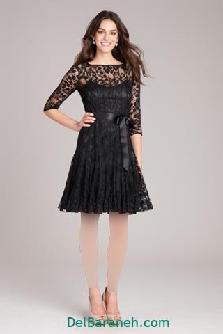 مدل لباس مجلسی آستین بلند پشت باز