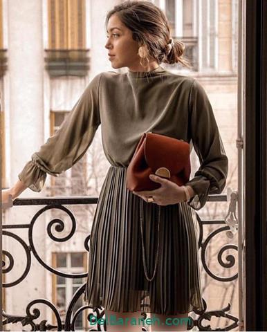 مدل لباس مجلسی آستین دار ایرانی