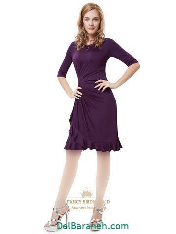مدل لباس مجلسی بلند استین بلند دخترانه