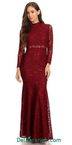 جدیدترین مدل لباس مجلسی بلند آستین دار