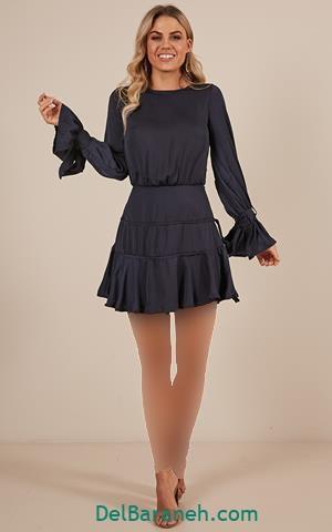 مدل لباس مجلسی دخترانه استین بلند
