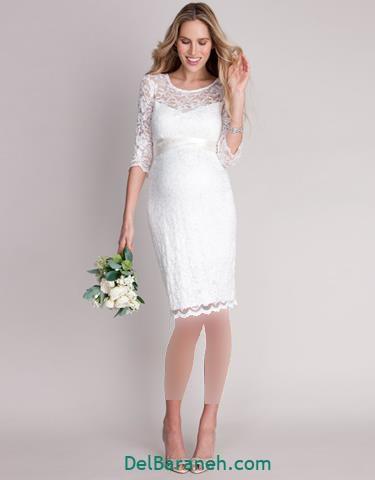مدل لباس مجلسی استین دار بلند ساده