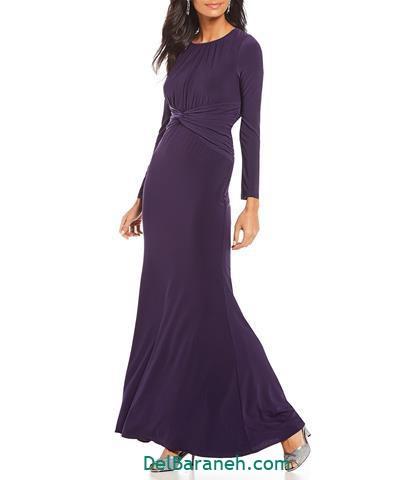 مدل لباس مجلسی استین دار بلند مشکی