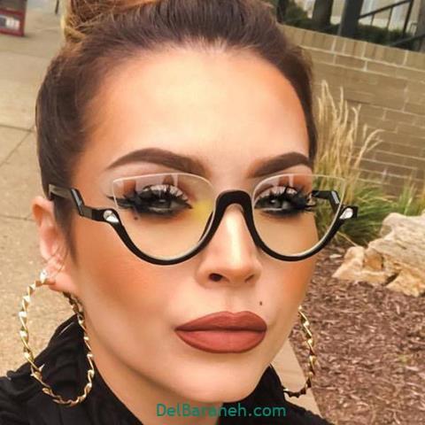 مدل عینک طبی زنانه و دخترانه با فریم خاص