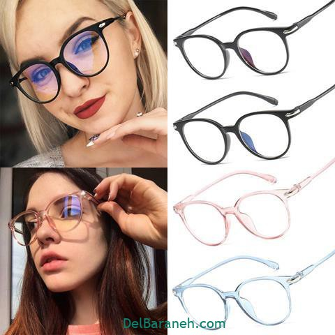 مدل عینک طبی زنانه و دخترانه با فریم سیاه
