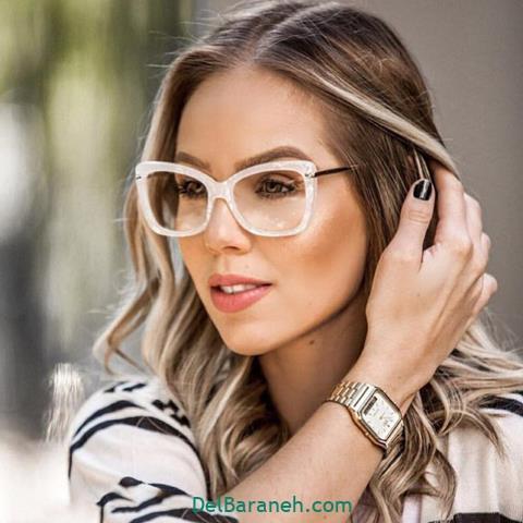 مدل عینک طبی زنانه و دخترانه با فریم گربه ای