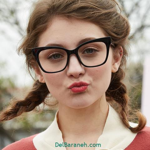 مدل عینک طبی زنانه و دخترانه گربه ای