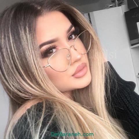 مدل عینک طبی زنانه و دخترانه رنگ طلایی