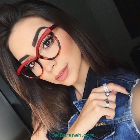 مدل عینک طبی زنانه و دخترانه با فریم قرمز خاص