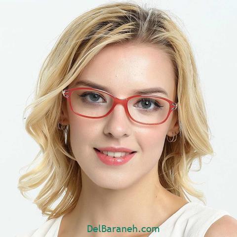 مدل عینک طبی زنانه برای صورت گرد