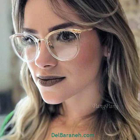 مدل عینک طبی زنانه طلایی