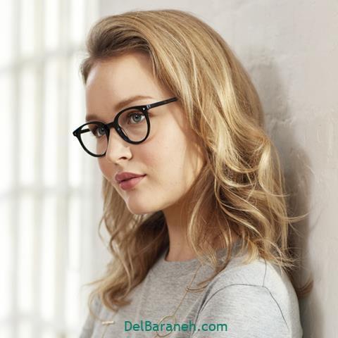 مدل عینک طبی زنانه برای صورت بیضی